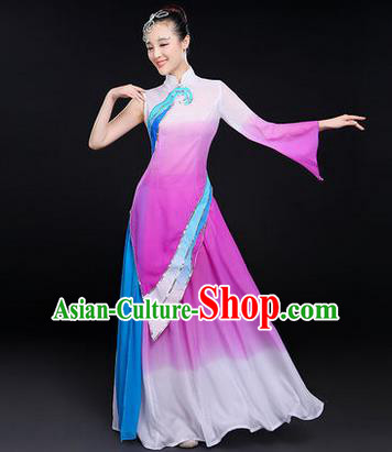 Traditional Chinese Yangge Fan Dancing Costume, Folk Dance Yangko Uniforms, Classic Dance Dress Drum Dance Clothing for Women