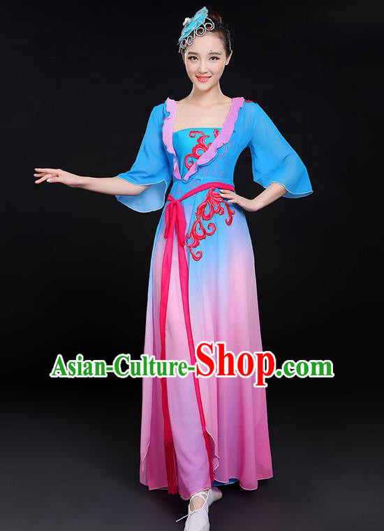 Traditional Chinese Yangge Fan Dancing Costume