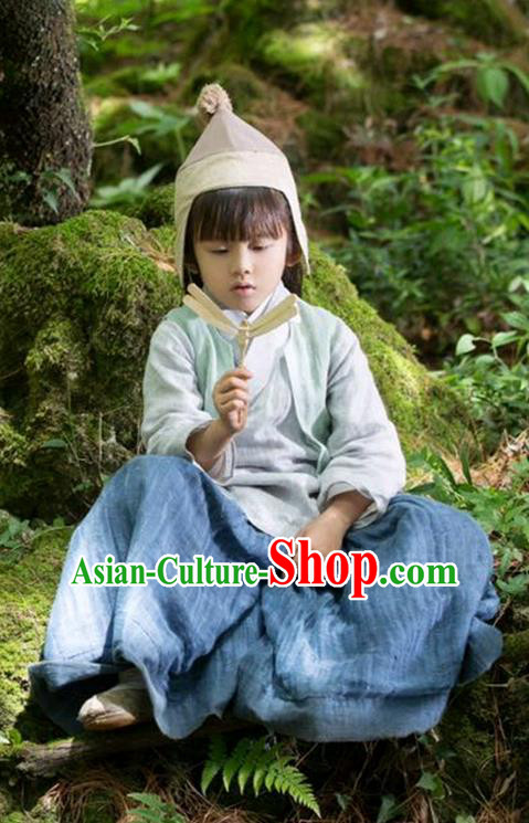 Traditional Ancient Chinese Nobility Childe Children Costume, Elegant Hanfu Lordling Dress, Cosplay Chinese Han Dynasty Little Scholar Clothing for Kids