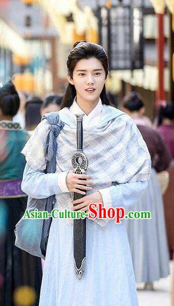 Traditional Ancient Chinese Nobility Childe Costume, Elegant Hanfu Young Male Aristocrat Dress, Cosplay China Swordsman Clothing for Men