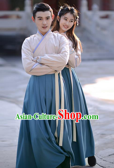 Traditional Ancient Chinese Costume Embroidered Blouse and Slip Skirt Complete Set , Elegant Hanfu Suits Clothing Chinese Han Dynasty Imperial Dress Clothing for Women for Men