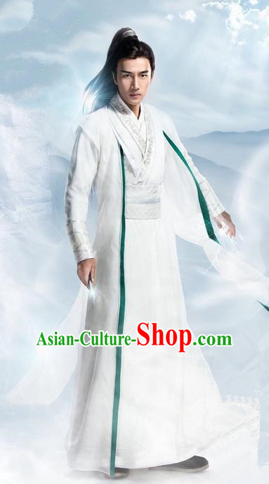 Traditional Ancient Chinese Elegant Swordsman Costume, Chinese Ancient Nobility Childe Dress, Cosplay Chinese Television Drama Flying Daggers Chivalrous Expert Chinese Ming Dynasty Prince Hanfu Clothing for Men
