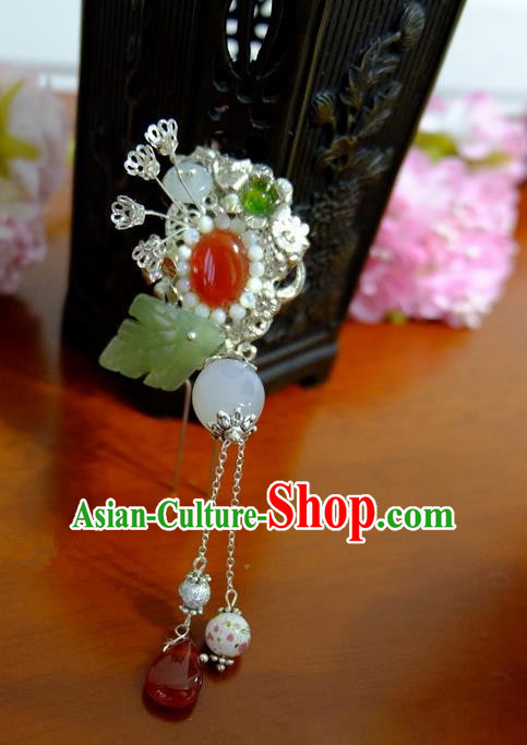Traditional Handmade Chinese Ancient Classical Hair Accessories Barrettes Hairpin, Pearl Step Shake Hair Sticks Hair Jewellery, Hair Fascinators Hairpins for Women