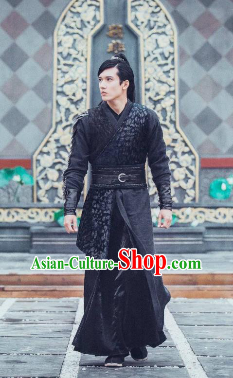 Traditional Ancient Chinese Elegant Swordsman Costume, Chinese Ancient Nobility Childe Armour Dress, Cosplay Chinese Television Drama Flying Daggers Chivalrous Expert Chinese Ming Dynasty Prince Hanfu Corselet Clothing for Men