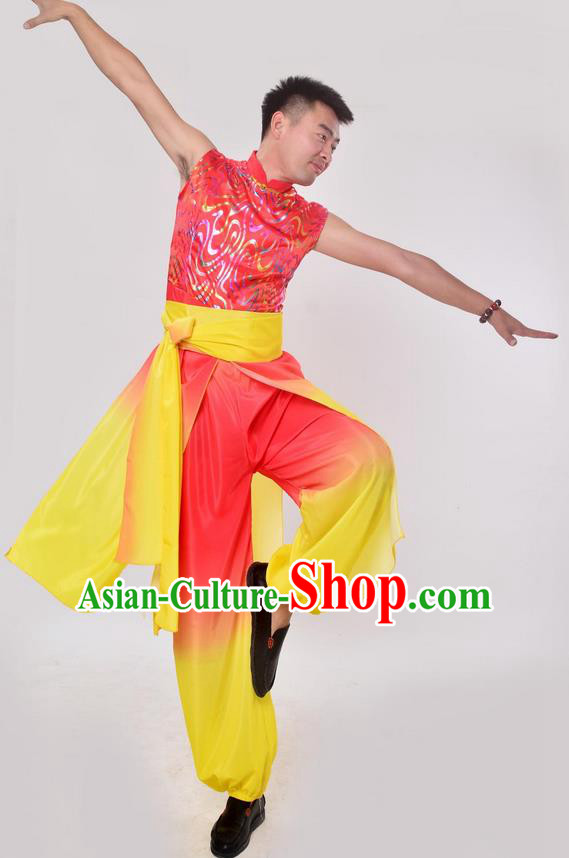 Traditional Chinese Classical Dance Yangge Lion Dance Costume, Folk Dance Drum Dance Uniform Yangko Clothing for Women