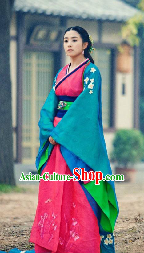 Traditional Ancient Chinese Elegant Costume Complete Set, Chinese Northern Dynasty Imperial Consort Dress, Cosplay Chinese Television Drama Alegend of Pringess Lanling Princess Consort Hanfu Trailing Embroidery Clothing for Women
