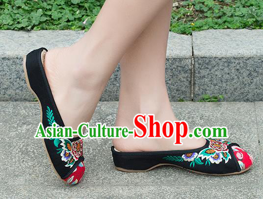 Traditional Chinese Shoes, China Handmade Embroidered Slippers White Shoes, Ancient Princess Shoes for Women