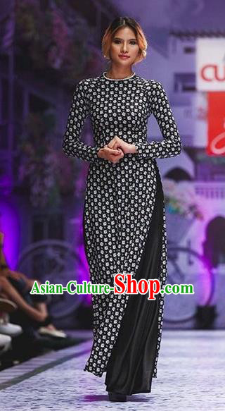 Traditional Top Grade Asian Vietnamese Dress, Vietnam National Female Ao Dai Dress Women Ao Dai Cheongsam Clothing