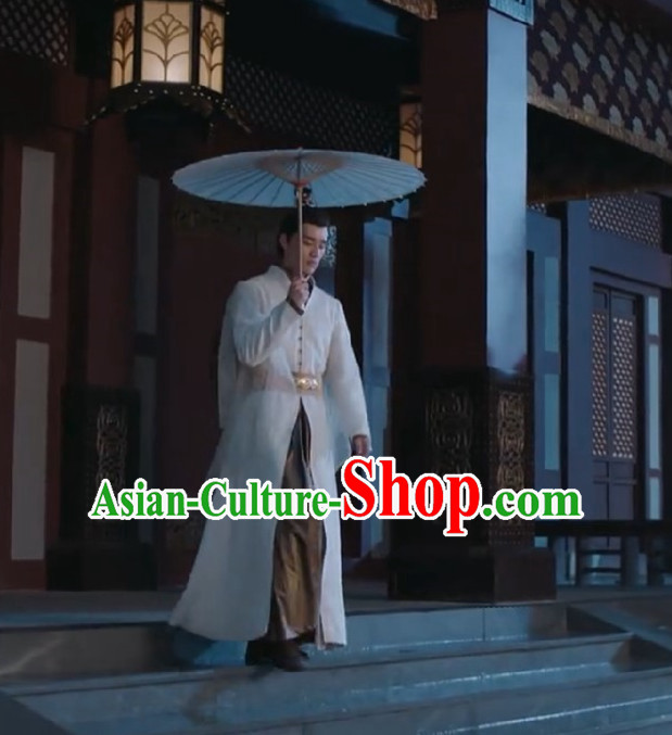 Chinese Ancient Tang Dynasty Childe Costume and Headwear, Fighter of the Destiny Traditional Chinese Ancient Merchant Prince Robes Clothing Complete Set for Men