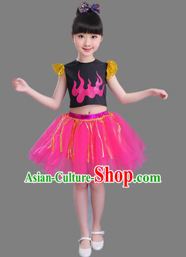 Top Grade Professional Compere Modern Dance Costume, Children Opening Dance Chorus Uniforms Jazz Dance Bubble Dress for Girls