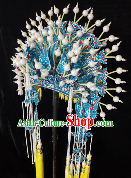 Traditional Chinese Peking Opera Handmade MeiPa Phoenix Coronet, China Beijing Opera Imperial Consort Headwear High-grade Bride Phoenix Coronet for Women