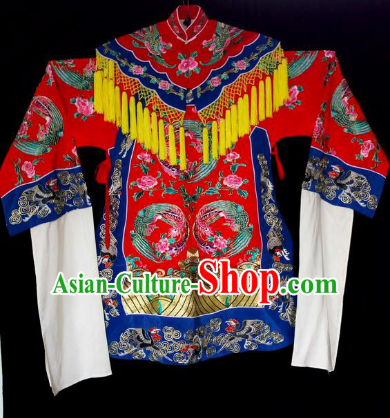 Traditional Chinese Peking Opera Costumes, China Beijing Opera High-grade Embroidered Cloud Shoulder Wearing Ming Dynasty Ceremonial Robe for Women