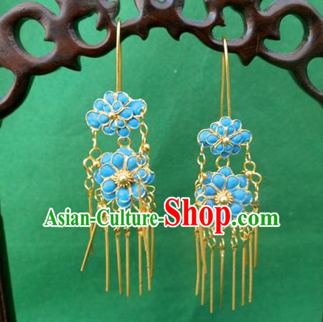 Traditional Chinese Ancient Classical Handmade Earrings Jewelry Accessories Hanfu Classical Eardrop for Women