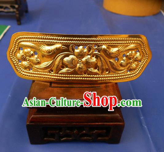 Traditional Handmade Chinese Ancient Classical Hair Accessories Bride Wedding Barrettes Golden Hair Sticks for Women