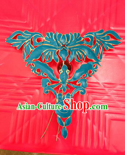 Traditional Handmade Chinese Ancient Classical Hair Jewelry Accessories, China Hanfu Forehead Ornament Hairpins Imperial Princess Blueing Barrettes Hair Stick for Women