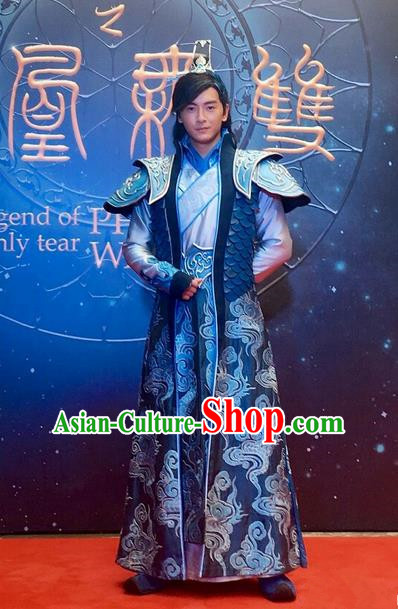 Traditional Ancient Chinese Imperial Prince Costume and Handmade Headpiece Complete Set, Elegant Hanfu Chinese Southern and Northern Dynasty Swordsman Clothing