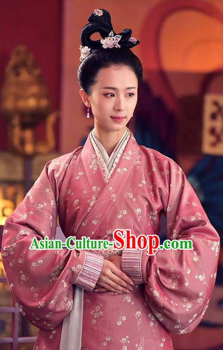 Traditional Chinese Ancient Warring States Palace Lady Costumes, Song of Phoenix Chu State Court Maid Hanfu Embroidered Clothing for Women