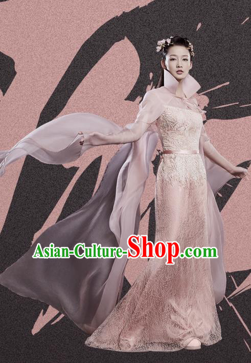 Traditional Ancient Chinese Northern and Southern Dynasties Princess Costume, Princess Agents Northern Wei Dynasty Palace Lady Clothing and Headpiece Complete Set