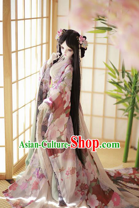 Top Grade Traditional China Ancient Young Lady Costumes, China Ancient Cosplay Princess Dress Clothing for Adults and Kids