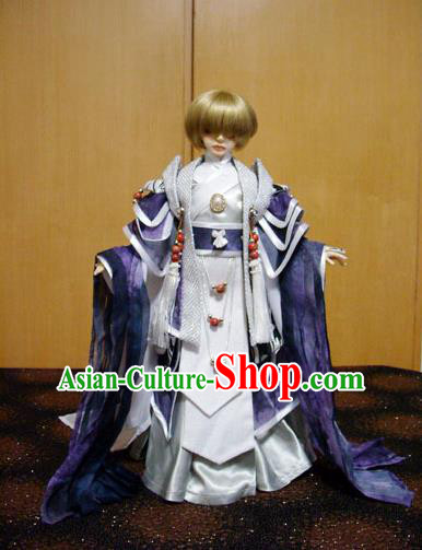 Traditional Ancient Prince Costumes Complete Set, China Ancient Cosplay Swordsman Clothing Chivalrous Expert Outfit for Men for Kids