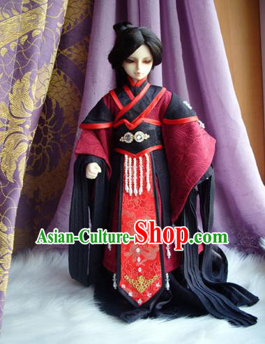Traditional Ancient Swordsman Costumes Complete Set, China Ancient Cosplay Clothing Chivalrous Expert Outfit for Men for Kids