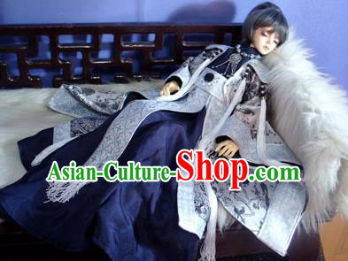 Traditional Ancient Royal Highness Costumes Complete Set, China Ancient Cosplay Swordsman Clothing Robe for Men for Kids