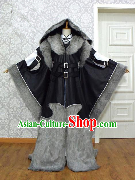 Top Grade Traditional China Ancient Cosplay Swordsman Costumes, China Ancient Chivalrous Expert Hanfu Clothing for Men
