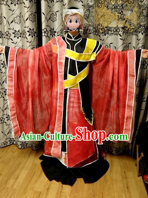 Top Grade Traditional China Ancient Cosplay Swordsman Costumes, China Ancient Taoist Priest Robes Clothing for Men