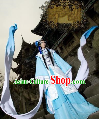 Top Grade Traditional China Ancient Cosplay Princess Costumes, China Ancient Young Lady Peri Dress Clothing for Women