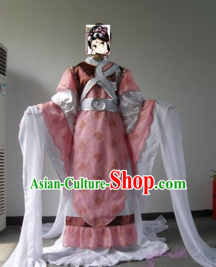 Top Grade Traditional China Ancient Cosplay Swordswoman Costumes, China Ancient Fairy Dress Hanfu Clothing for Women