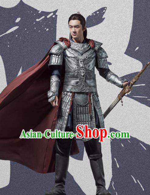 Traditional Ancient Chinese Northern and Southern Dynasties General Costume, Princess Agents Northern Wei Dynasty Prince Armour Clothing Complete Set