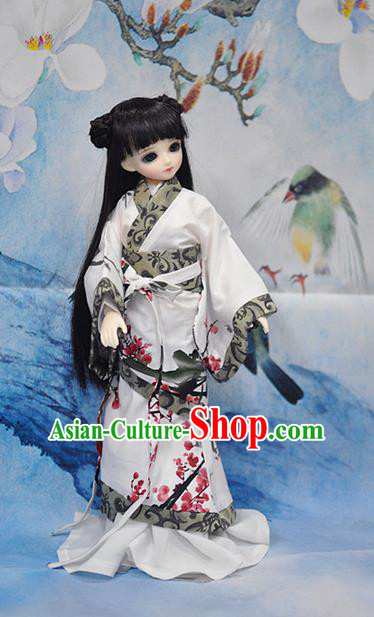 Top Grade Traditional China Ancient Princess Dance Costumes Complete Set, China Ancient Cosplay Han Dynasty Princess Dress Hanfu Clothing for Adults and Kids