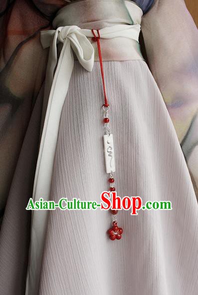 Top Grade Traditional China Ancient Palace Lady Jade Accessories Pendant, China Ancient Swordsman Tassel Waist Pendant