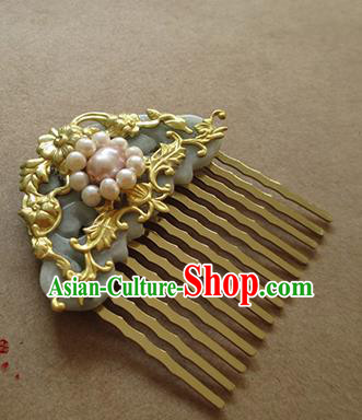Chinese Ancient Handmade Jewelry Accessories Hairpins, Traditional Chinese Ancient Hanfu Hair Combs Headwear for Women