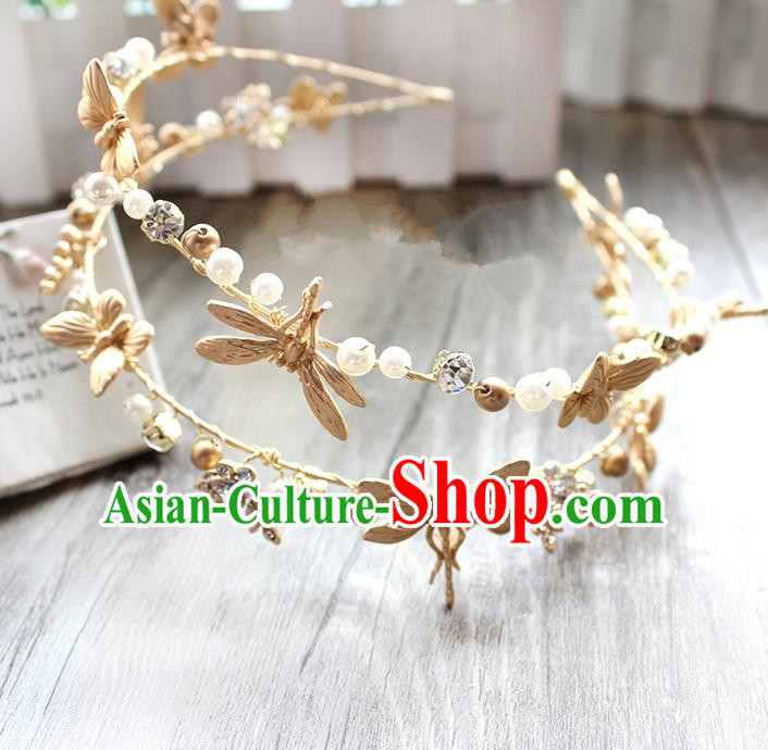Top Grade Handmade Wedding Bride Hair Accessories Starfish Hair Clasp, Traditional Princess Baroque Headpiece for Women