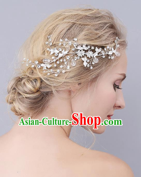 Top Grade Handmade Wedding Bride Hair Accessories Barrette, Traditional Princess Baroque Hair Claw Headpiece for Women