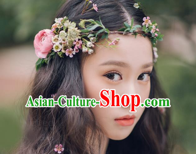 Top Grade Handmade Wedding Bride Hair Accessories Flowers Hair Clasp, Traditional Baroque Queen Wedding Headpiece for Women