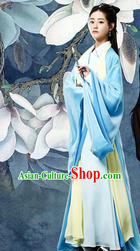 Traditional Ancient Chinese Imperial Princess Costume and Handmade Headpiece Complete Set, Elegant Hanfu Clothing Chinese Noble Lady Dress Clothing