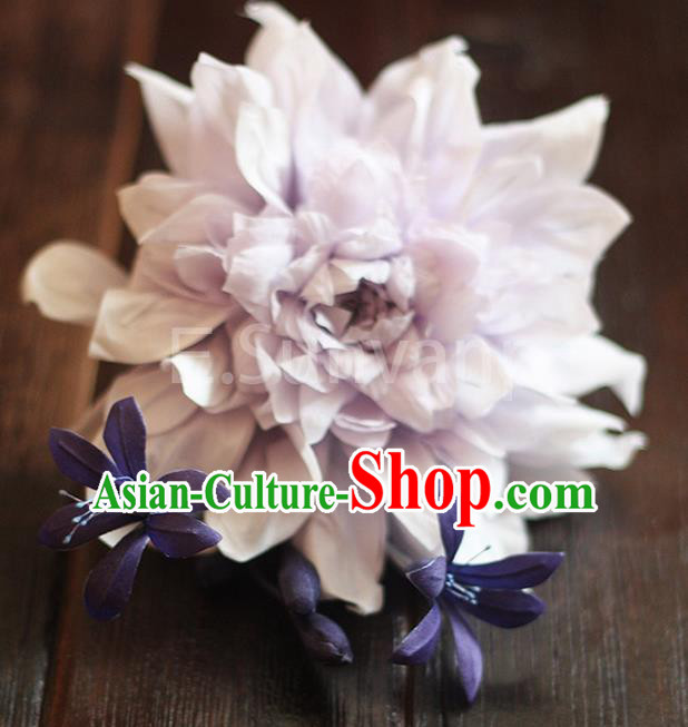 Top Grade Handmade Wedding Bride Hair Accessories Flowers Hairpin, Traditional Baroque Princess Hair Stick Headpiece for Women