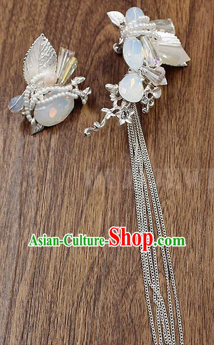 Top Grade Handmade China Wedding Bride Accessories Opal Earrings, Traditional Princess Wedding Eardrop Jewelry for Women