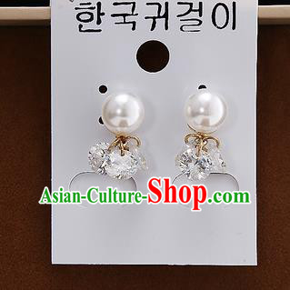 Top Grade Handmade China Wedding Bride Accessories Earrings, Traditional Princess Wedding Pearl Eardrop Jewelry for Women
