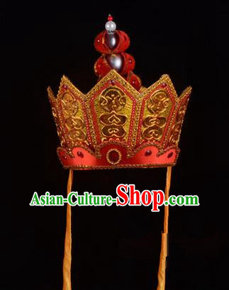 Traditional Chinese Ancient Peking Opera Accessories Monks Hat, Traditional Chinese Beijing Opera Mitre Five Buddha Crown Headwear