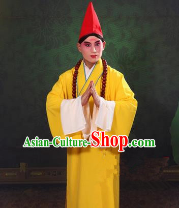 Traditional Chinese Beijing Opera Shaoxing Opera Monk Clothing, China Peking Opera Monk Robes