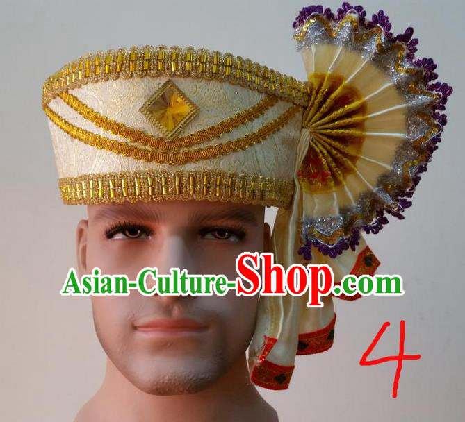 Traditional Traditional Thailand Accessories Hat, Southeast Asia Thai Dai Nationality Headwear for Men