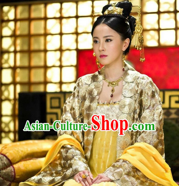 Ancient Chinese Costume Chinese Style Wedding Dress Tand dynasty clothing