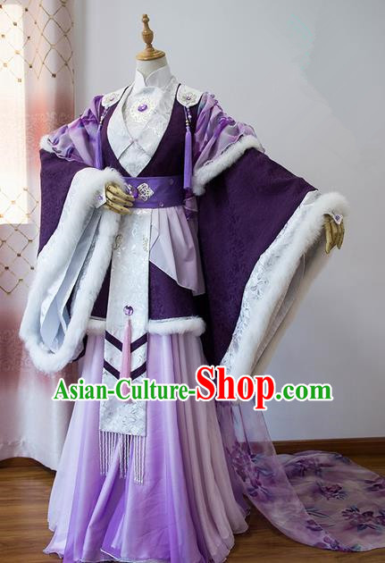 Traditional Chinese Han Dynasty Imperial Consort Wedding Costume, Elegant Hanfu Cosplay Nobility Lady Clothing Ancient Chinese Princess Dress for Women
