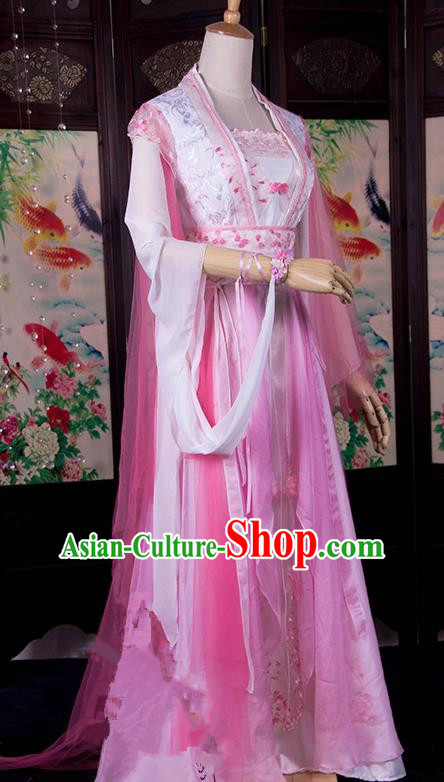 Traditional Chinese Tang Dynasty Imperial Consort Wedding Costume, Elegant Hanfu Cosplay Peri Clothing Ancient Chinese Princess Dance Dress for Women