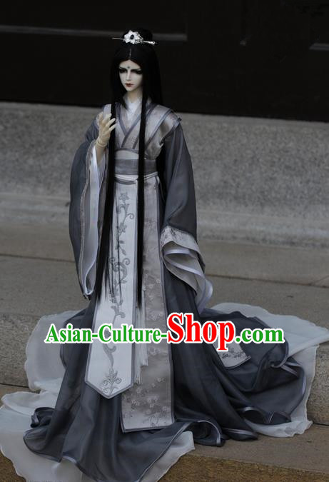Traditional Chinese Super Dollfie Costume, Chinese Ancient Hanfu Jiang Hu Swordsman Prince Clothing for Doll
