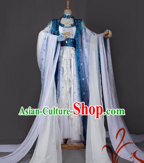 Traditional Chinese Tang Dynasty Imperial Princess Costume, Elegant Hanfu Cosplay Nobility Lady Clothing Ancient Chinese Royal Dance Dress for Women