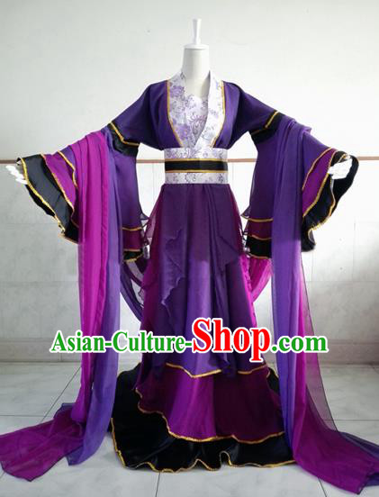 Traditional Chinese Cosplay Imperial Consort Costume, Chinese Ancient Hanfu Han Dynasty Queen Clothing for Women